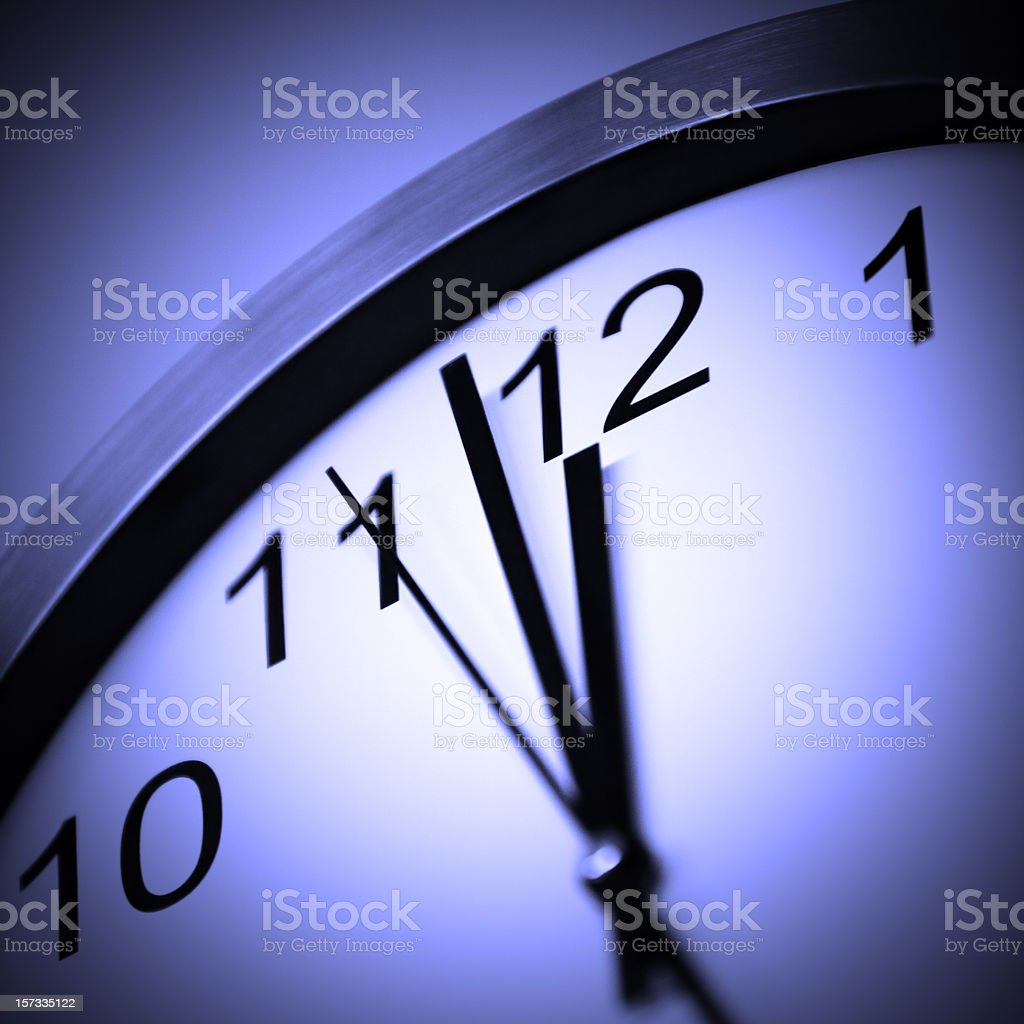 Clock expressing deadline concept royalty-free stock photo