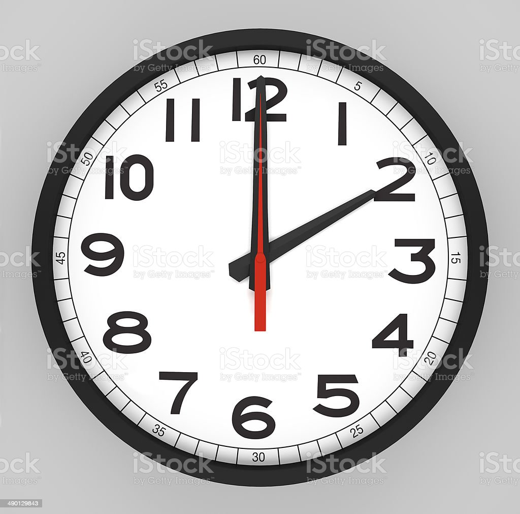 Clock Face 2 o'clock stock photo