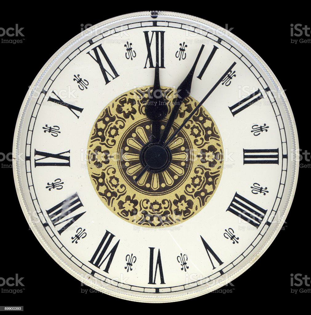 Clock Face. Clipping Path stock photo
