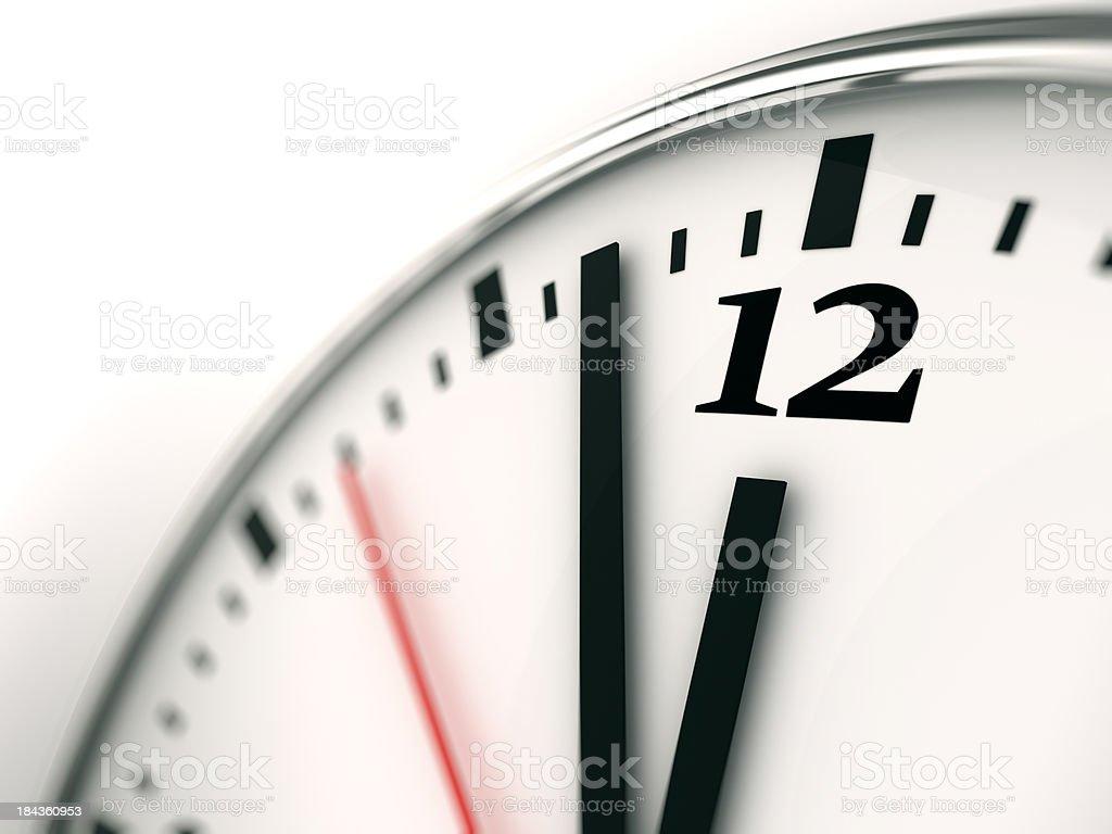 Clock face close-up stock photo