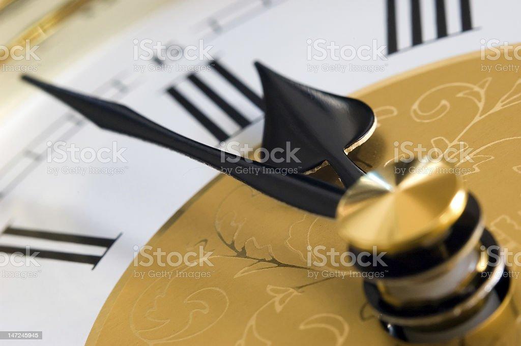 Clock Face Macro stock photo