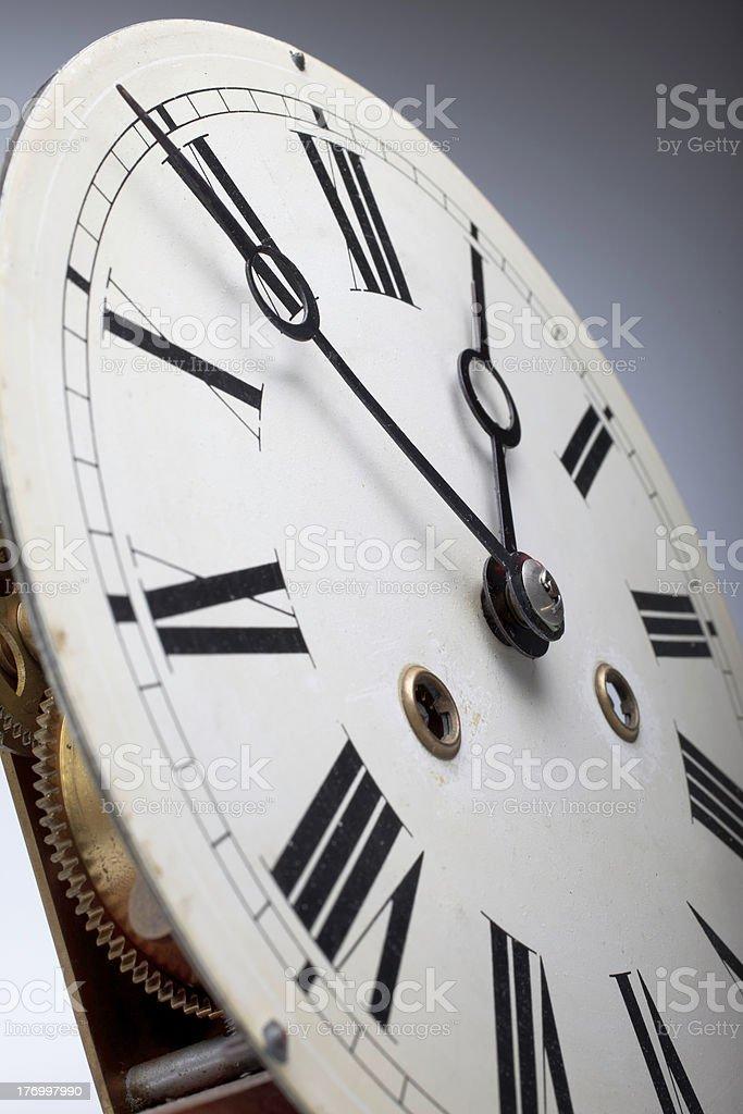 Clock face of an antique watch stock photo