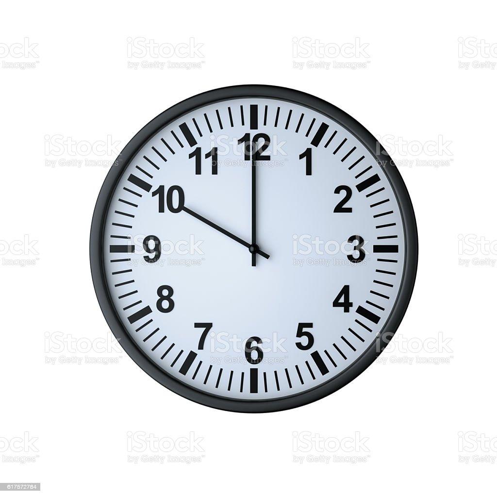 Clock face showing ten o'clock stock photo