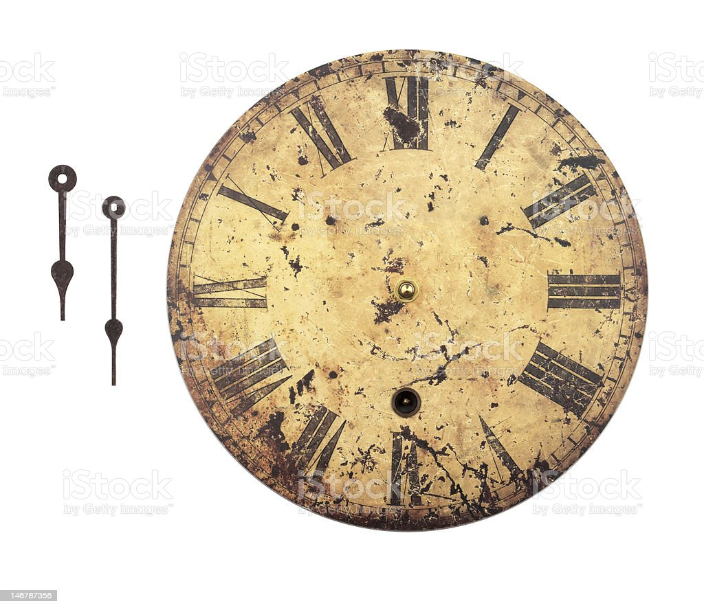 Clock Face w/Detached Hands stock photo