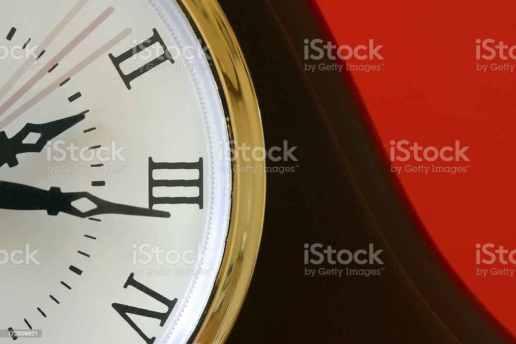 Clock Face with Seconds Ticking By royalty-free stock photo