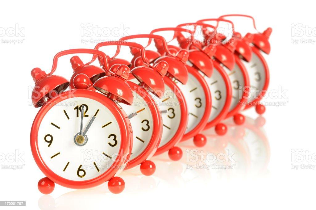 Clock Family stock photo