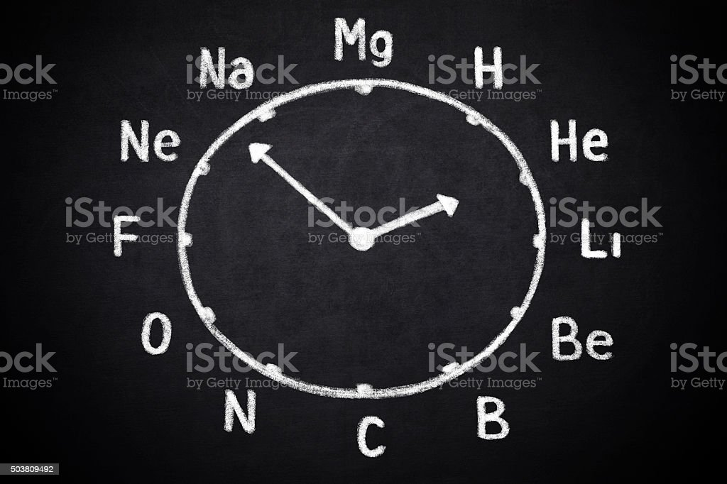 Clock for chemists stock photo