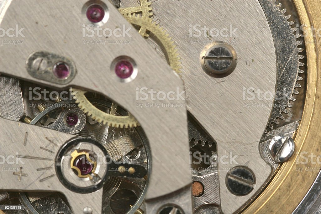Clock from inside royalty-free stock photo