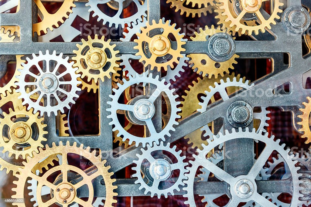 clock gear set background stock photo