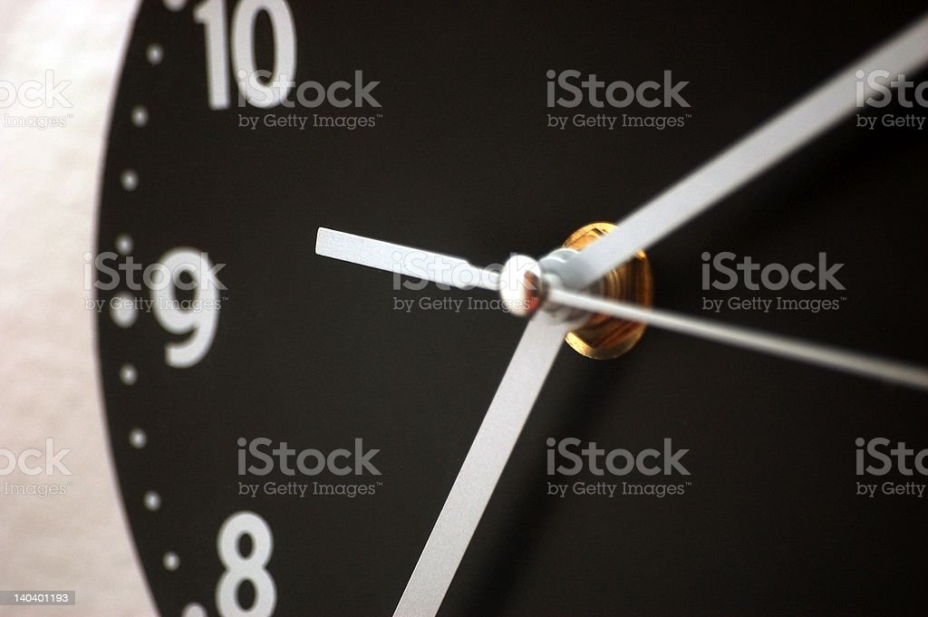 Clock hands royalty-free stock photo