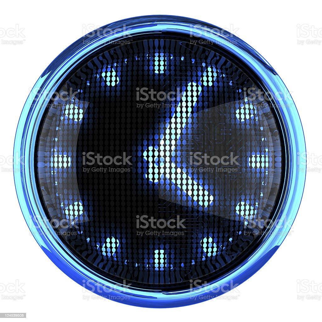 Clock icon royalty-free stock photo