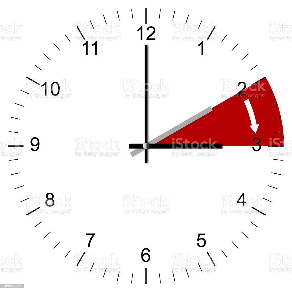 Clock Illustration End of Winter time stock photo