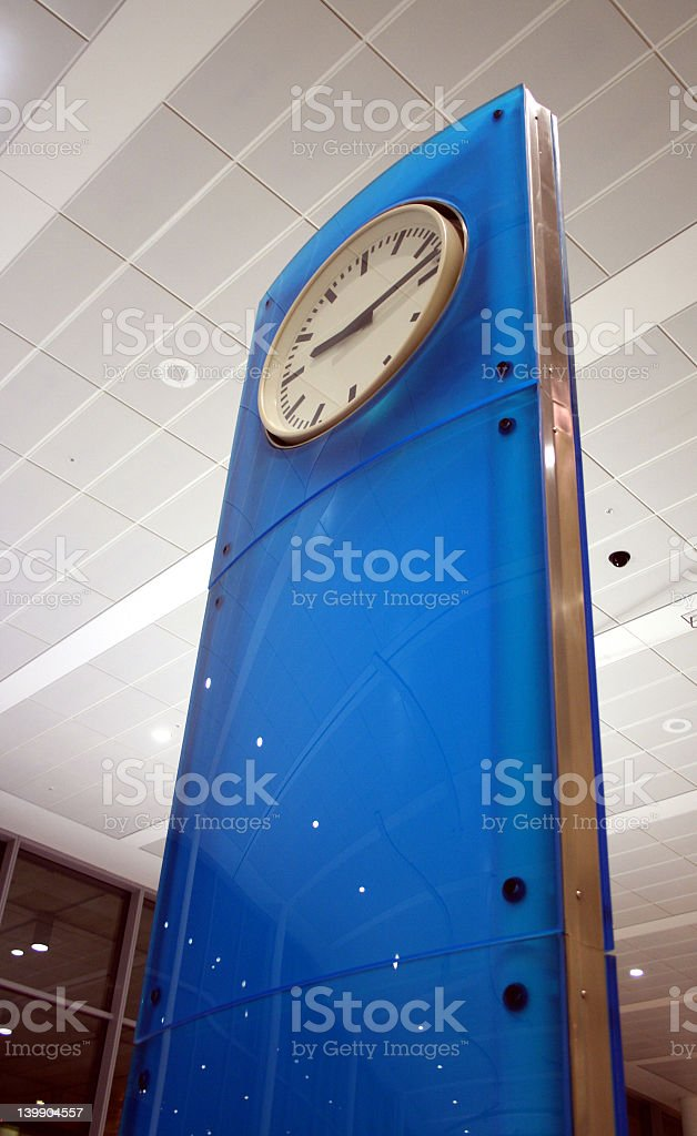 Clock in a airport stock photo