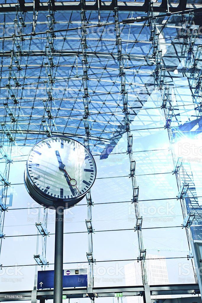 Clock in a station royalty-free stock photo