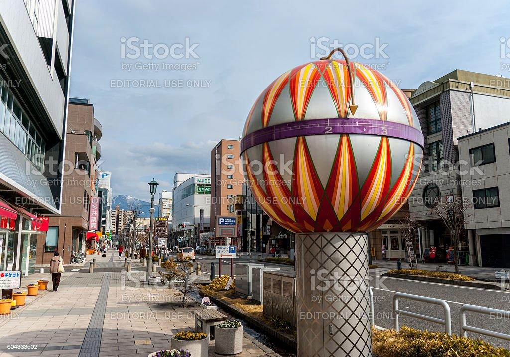 Clock in Matsumoto, Japan stock photo