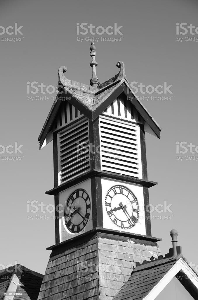 Clock in Thornton stock photo