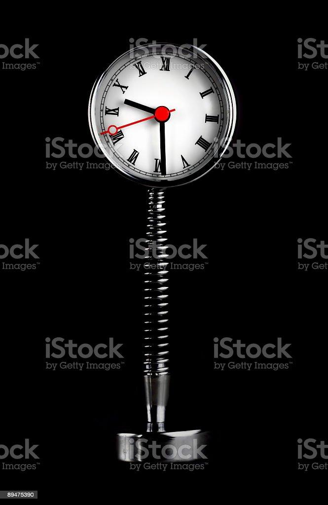 Clock isolated on black royalty-free stock photo