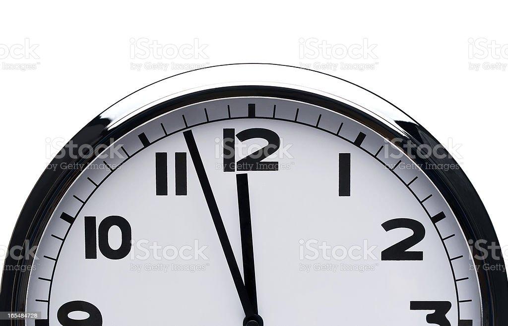 clock isolated on white background royalty-free stock photo
