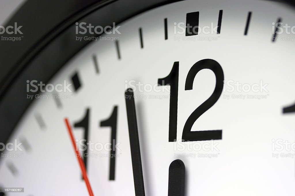 Clock. Just before deadline royalty-free stock photo