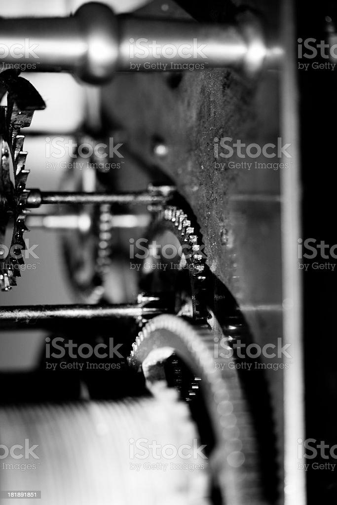 Clock Machinery stock photo