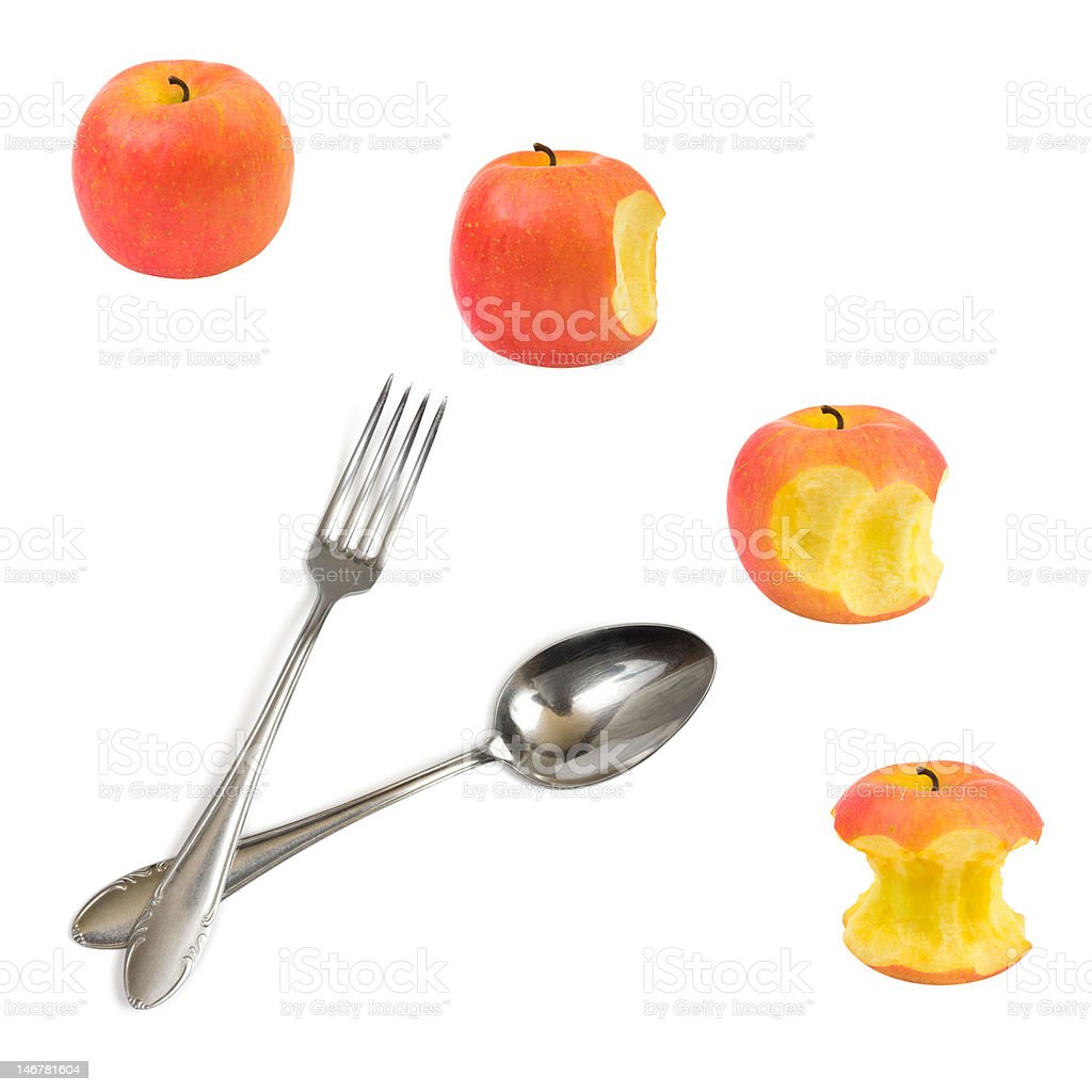 Clock made of apples royalty-free stock photo