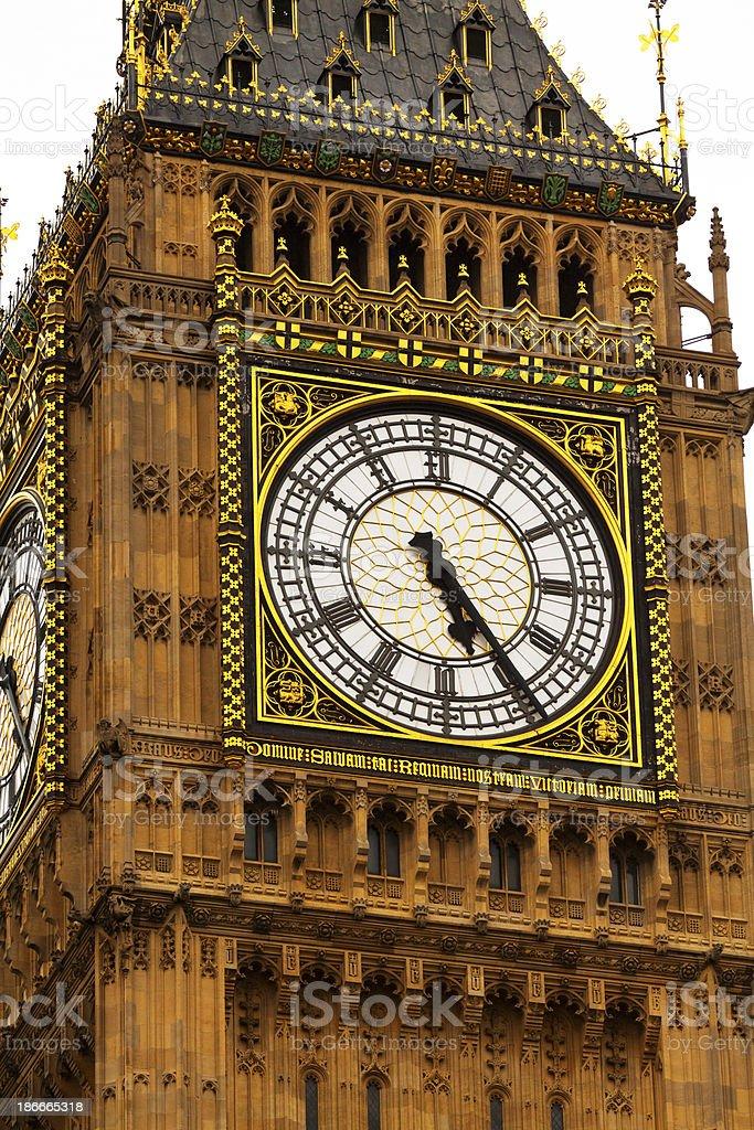 Clock of London royalty-free stock photo