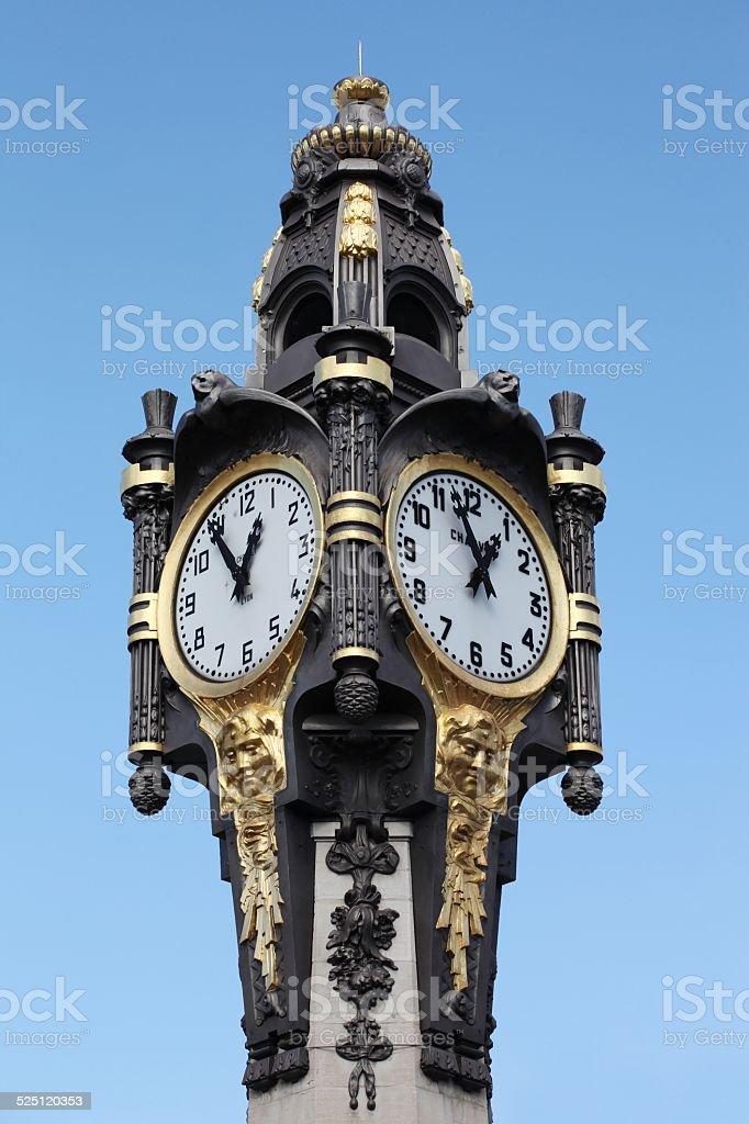 Clock of Tassin la Demi Lune, Lyon, France stock photo