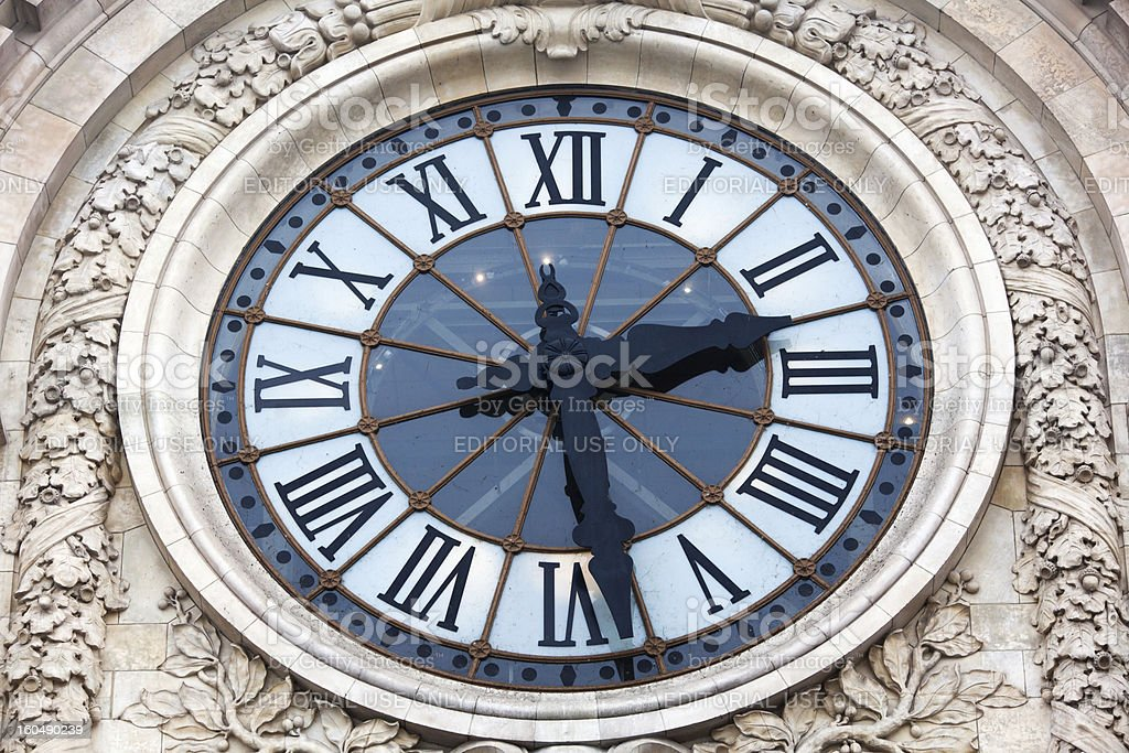 clock of the Orsay museum in Paris royalty-free stock photo