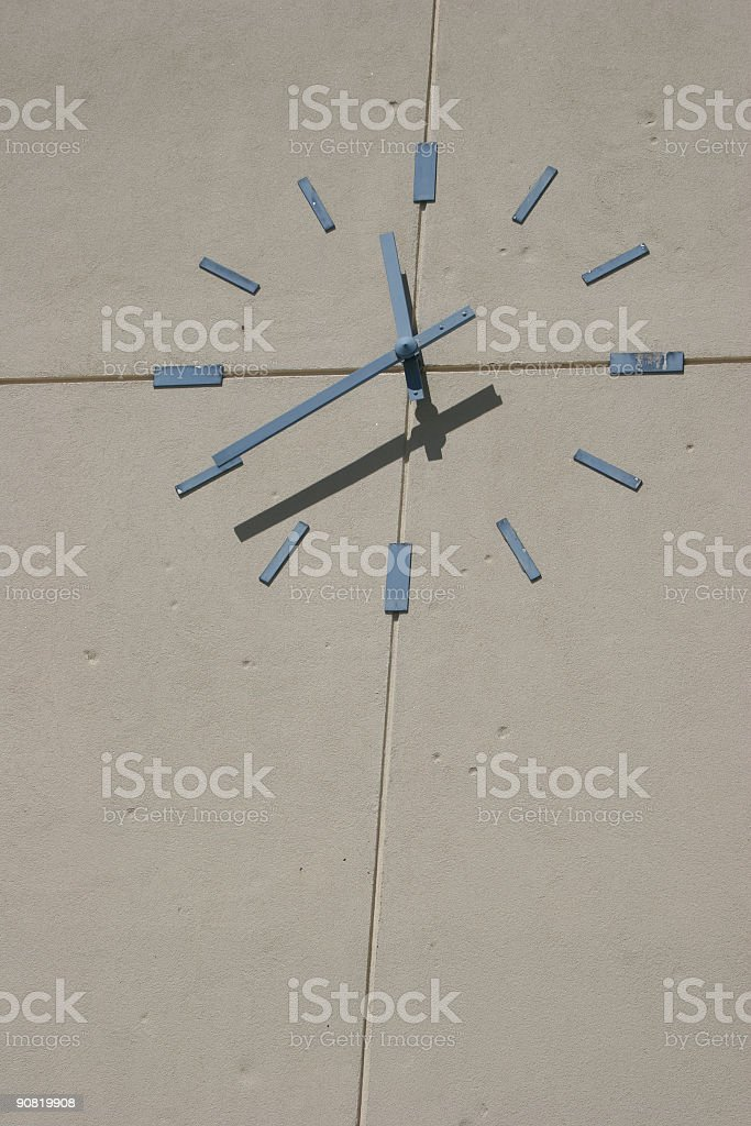 Clock on a Building stock photo