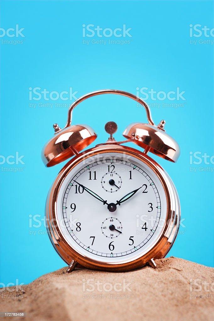 clock on sand royalty-free stock photo