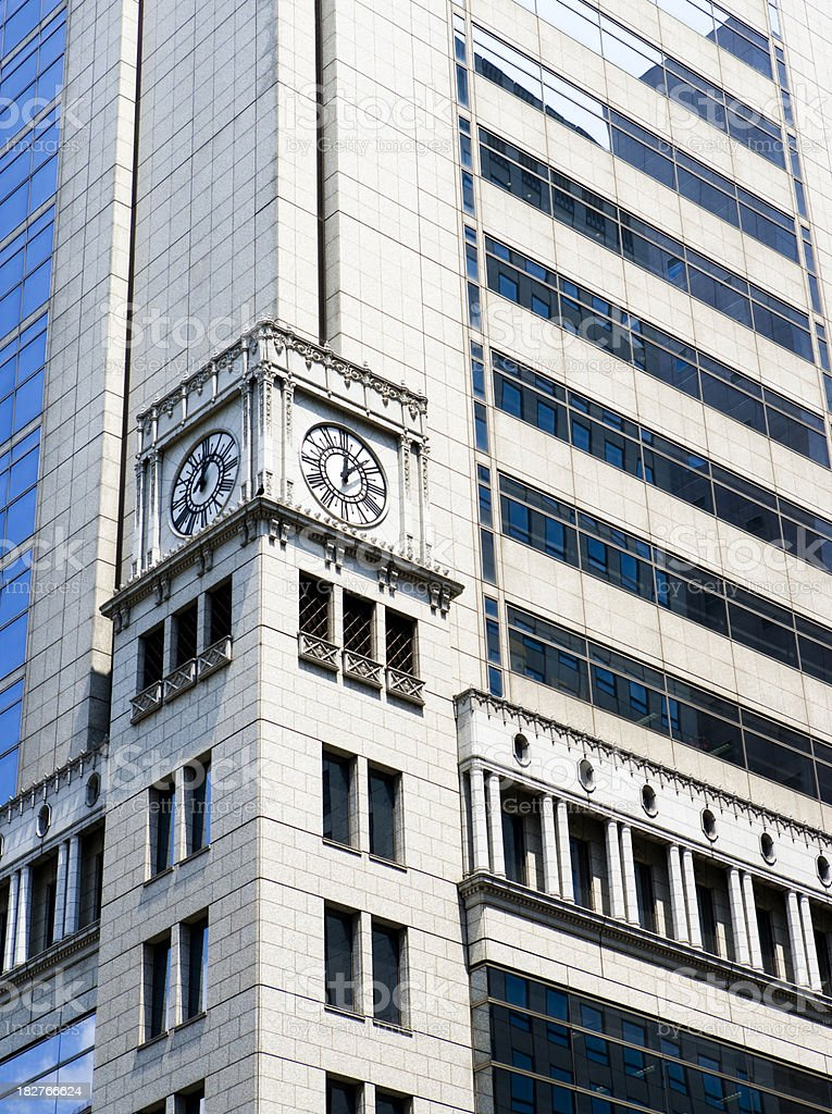 Clock on the office royalty-free stock photo