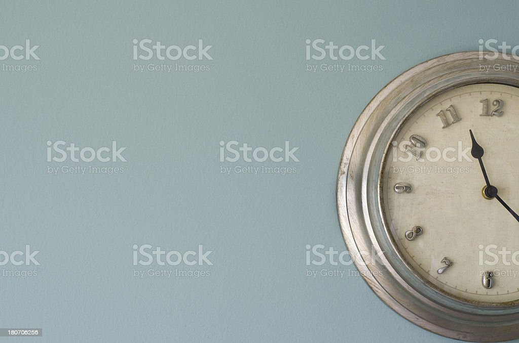 Clock on the wall royalty-free stock photo