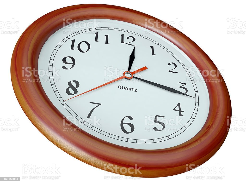 clock per a wooden frame royalty-free stock photo