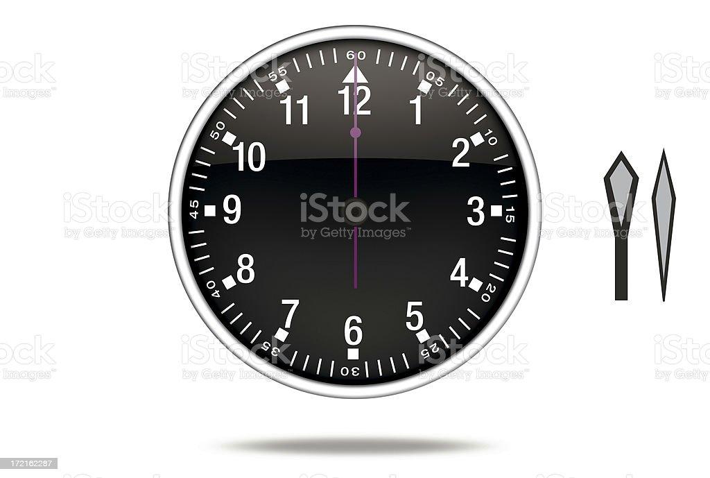 3D clock royalty-free stock photo