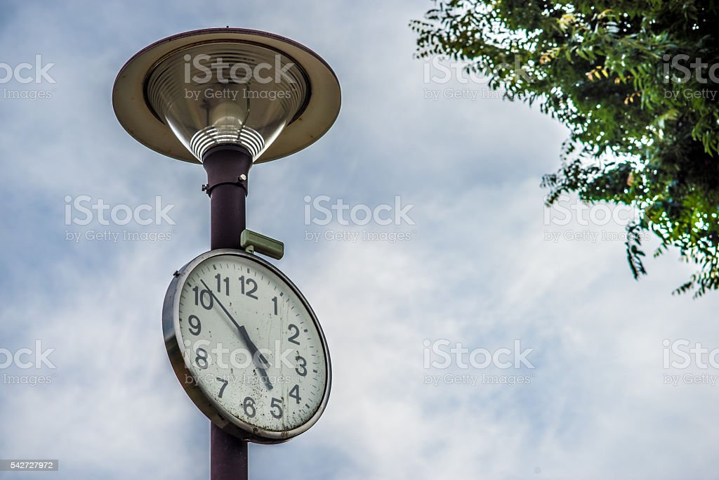 Clock (time to go home, closing time) stock photo