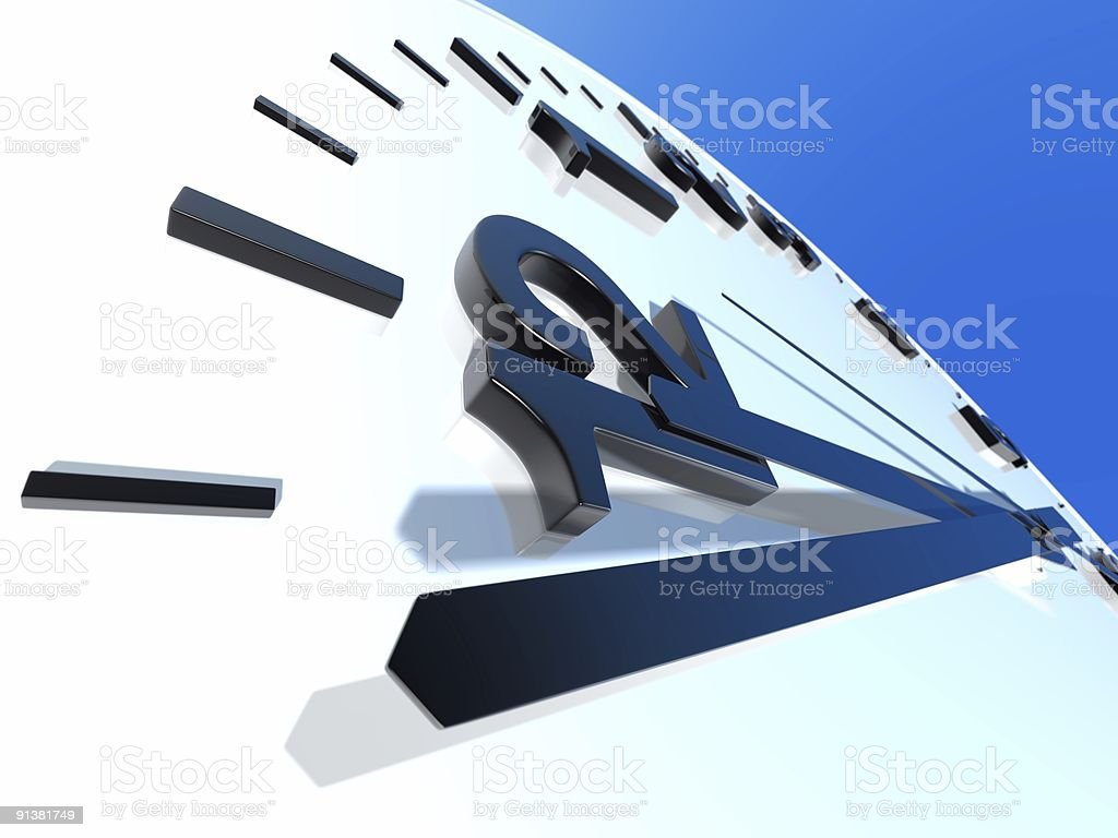 Clock royalty-free stock photo