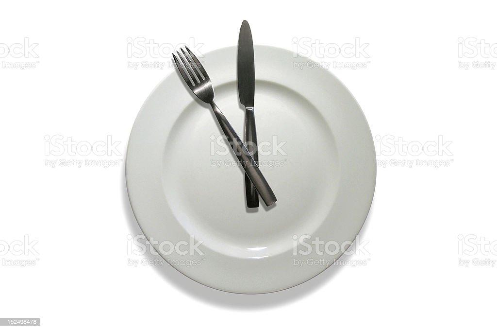 Clock Plate royalty-free stock photo