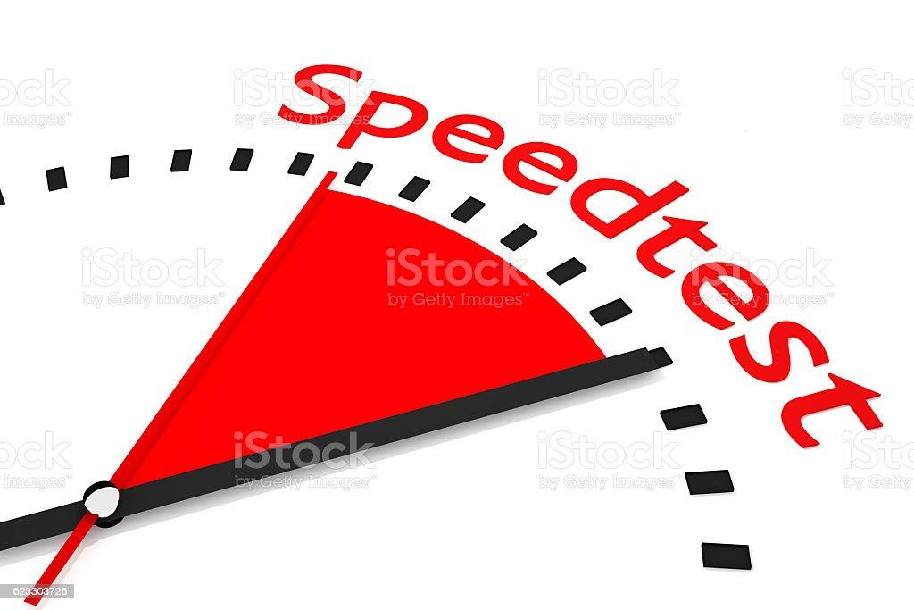 clock red area download speedtest 3D Illustration stock photo