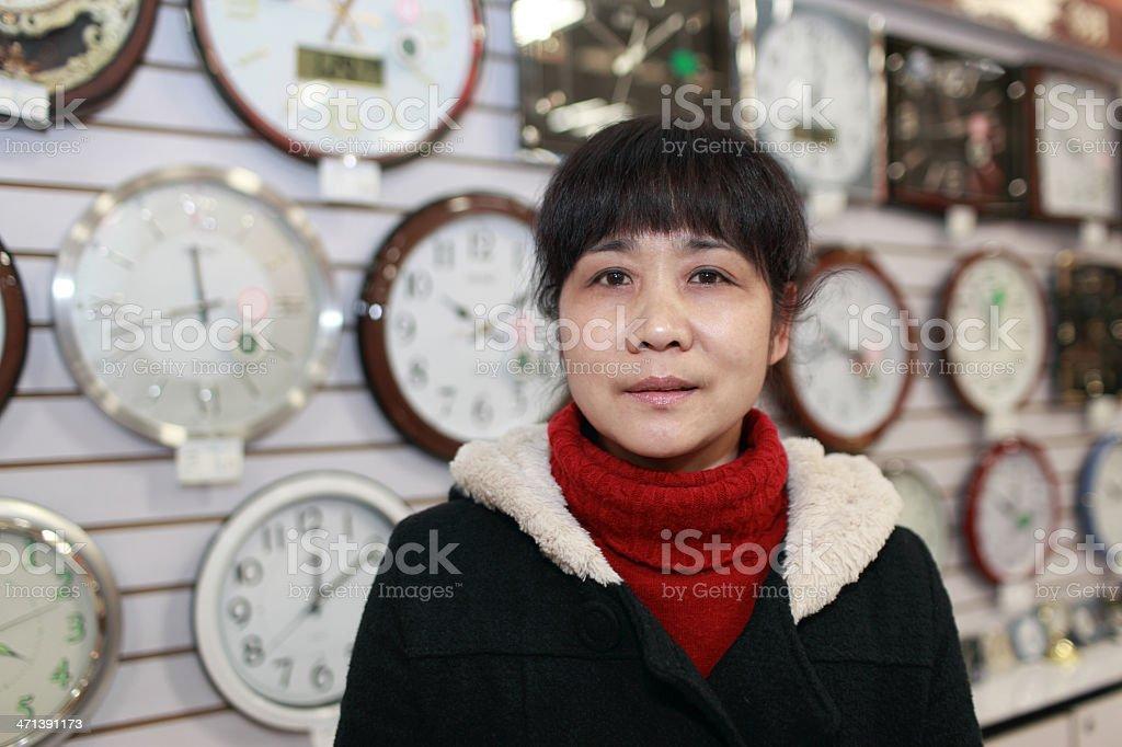 Clock salesman royalty-free stock photo