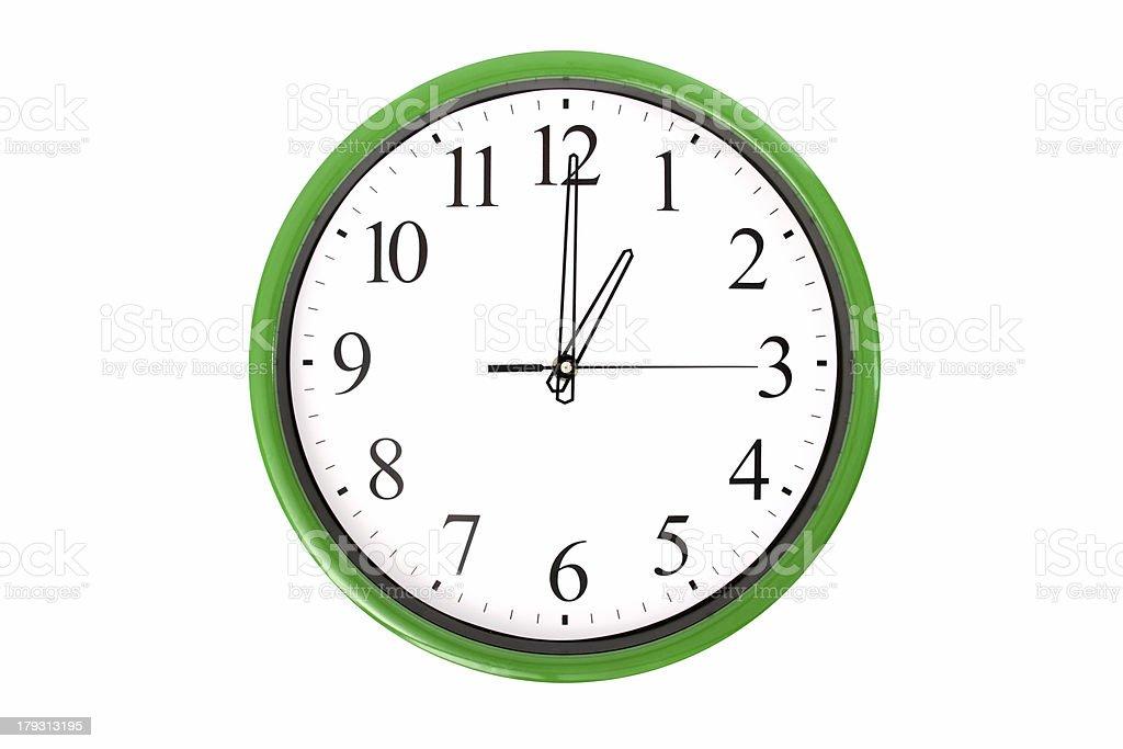 Clock serie - 1 o'clock stock photo