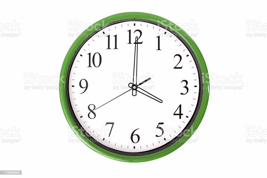 Clock serie - 4 o'clock stock photo