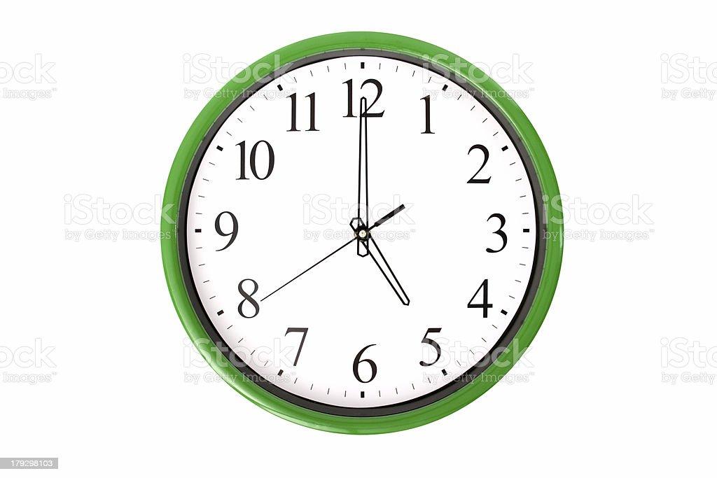 Clock serie - 5 o'clock stock photo