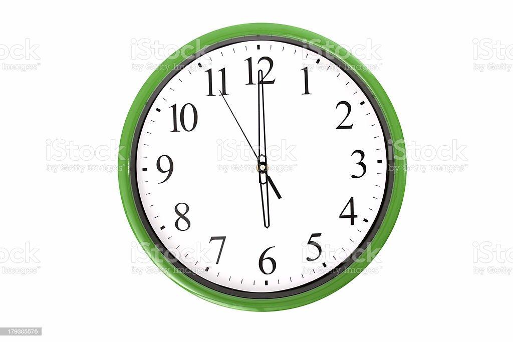 Clock serie - 6 o'clock stock photo