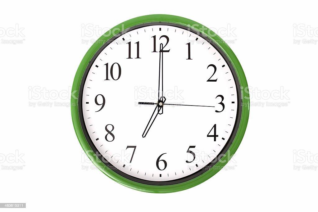 Clock serie - 7 o'clock stock photo