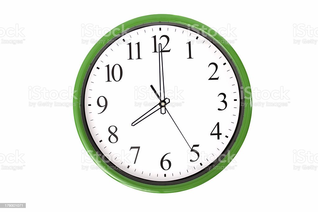 Clock serie - 8 o'clock stock photo