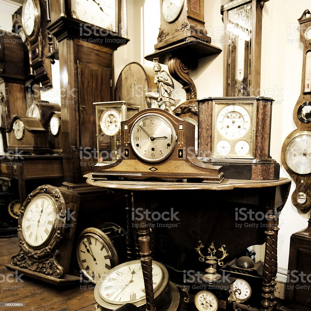 Clock shop stock photo