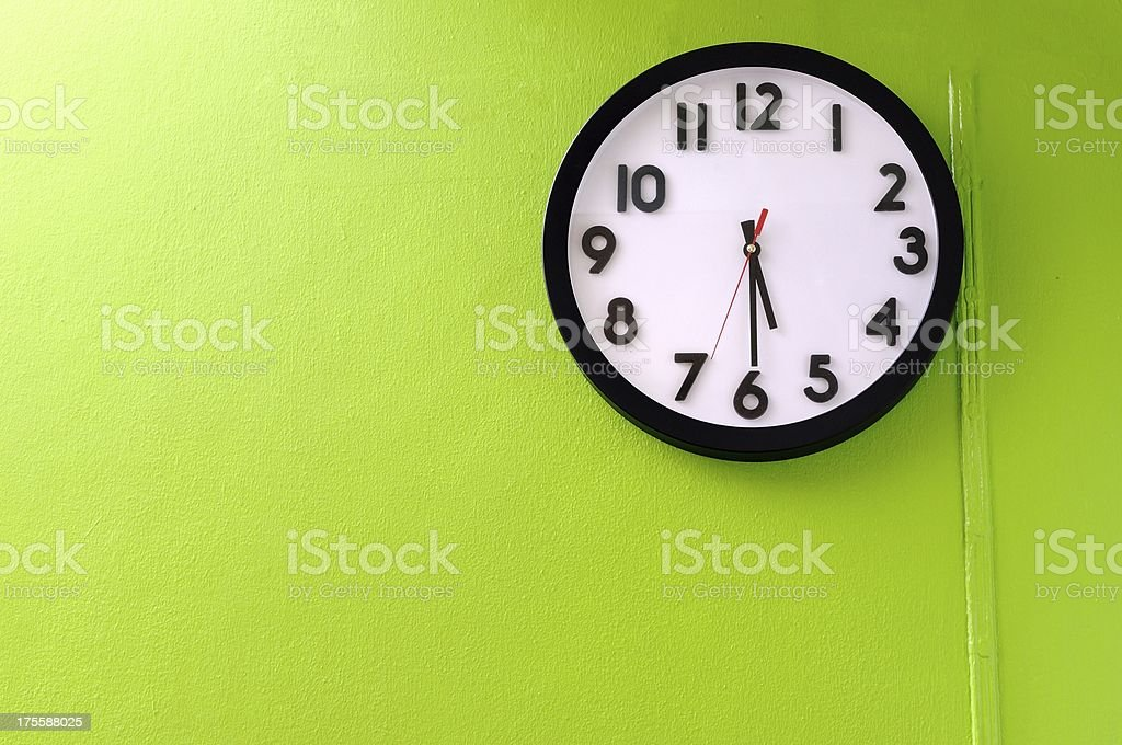 Clock showing 5:30 o'clock royalty-free stock photo