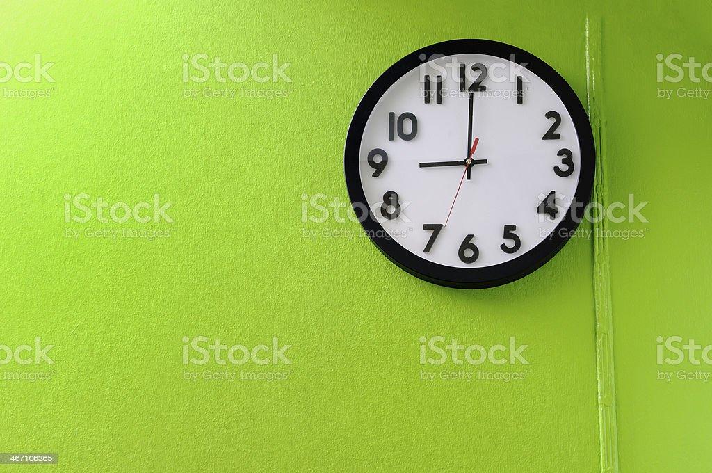 Clock showing 9:00 o'clock stock photo