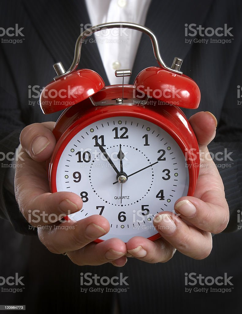 clock time business hands royalty-free stock photo