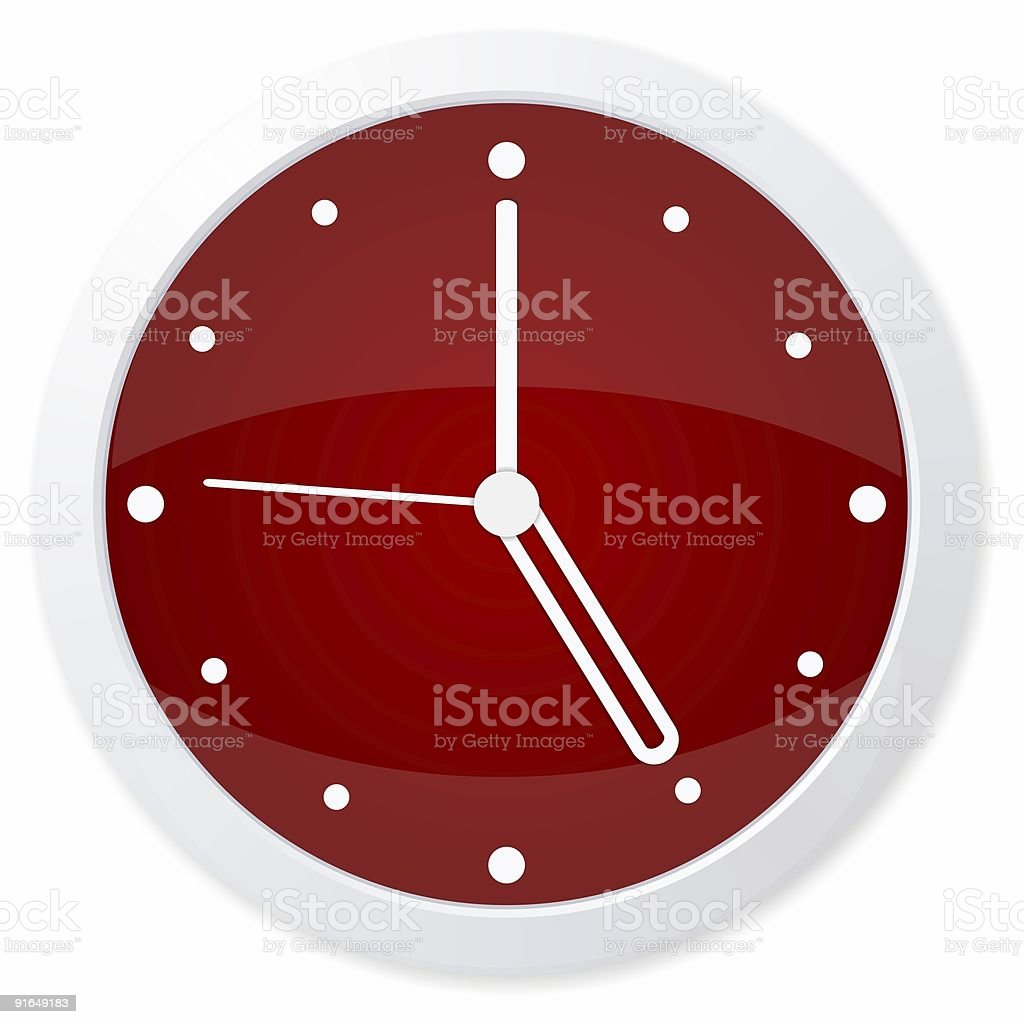 clock time quarter stock photo